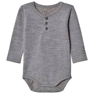 Noa Noa Miniature Boys All in ones Grey Basic Wool Baby Body Grey