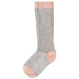 Noa Noa Miniature Girls Underwear Grey Rib Knee Socks Light Grey