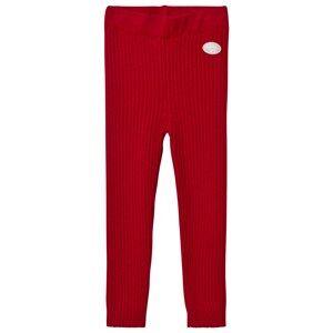 Lillelam Unisex Bottoms Red Winter Rib Leggings Red