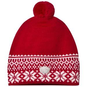 Lillelam Unisex Headwear Red Winter Dusk Hat Red