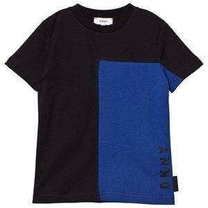 DKNY Boys Tops Black Black/Blue Branded Tee