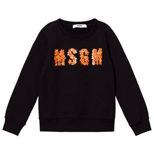 MSGM Girls Jumpers and knitwear Black Black Beaded Logo Sweatshirt