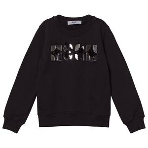 MSGM Girls Jumpers and knitwear Black Black Mirror Bead Logo Sweatshirt