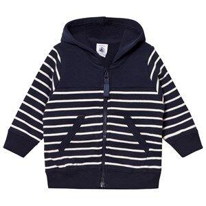 Petit Bateau Unisex Jumpers and knitwear Blue Sweat Jacket Marine/Creme