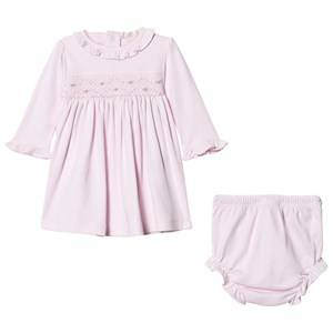 Image of Kissy Kissy Girls Dresses Pink Pink Rose Smocked Frill Dress