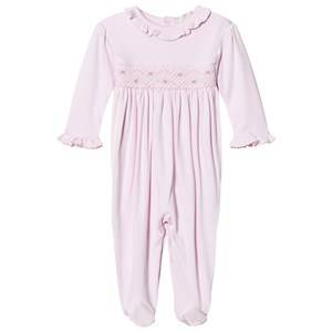 Image of Kissy Kissy Girls All in ones Pink Pink Rose Smocked Frill One-Piece
