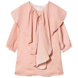 Image of Carrément Beau Girls Dresses Pink Pink Bow Satin Dress