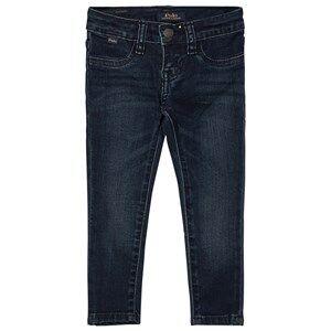 Ralph Lauren Girls Bottoms Navy Blue Mid Wash Aubrey Stretch Jeans
