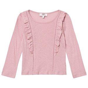Cyrillus Girls Tops Pink Pale Pink Long Sleeve Tee