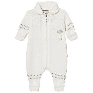 Lillelam Unisex All in ones White Merino Wool Baby Onesie Basic White