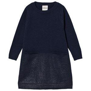 Lillelam Unisex Dresses Blue Merino Wool Sparkling Dress Blue