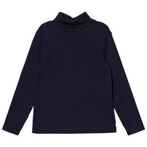 Cyrillus Boys Tops Navy Navy Long Sleeve Polo Neck Tee