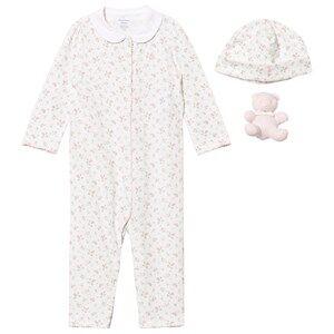 Ralph Lauren Girls All in ones Pink Pink Floral Baby One-Piece Gift Set