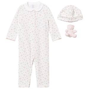 Image of Ralph Lauren Girls All in ones Pink Pink Floral Baby One-Piece Gift Set