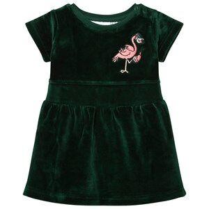 Tao&friends; Girls Dresses Green Flamingon Mini Velvet Dress Green