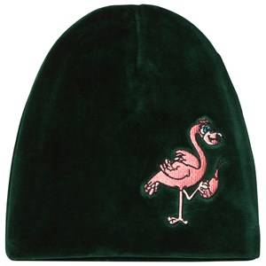 Tao&friends; Unisex Headwear Green Flamingon Velvet Beanie Green
