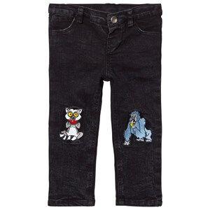 Tao&friends; Unisex Bottoms Grey Denim Jeans Grey/Black
