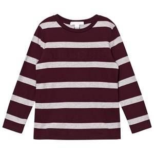 Burberry Boys Tops Red Burgundy/Grey Graham Tee