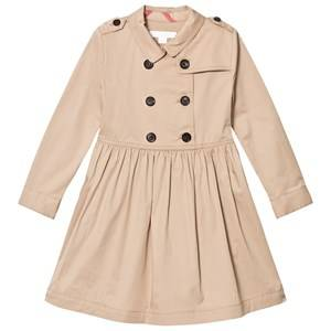 Image of Burberry Girls Dresses Beige Beige Lillyana Long Sleeve Trench Dress