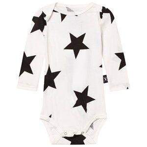 NUNUNU Unisex All in ones White Star Baby Body White
