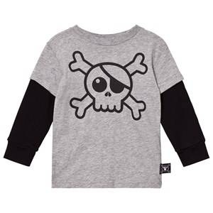 NUNUNU Unisex Tops Grey Skull T-Shirt Heather Grey