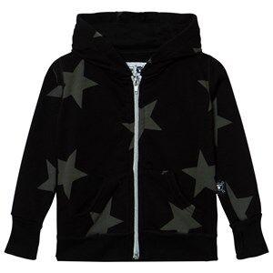 NUNUNU Unisex Jumpers and knitwear Black Star Zip Hoodie Black