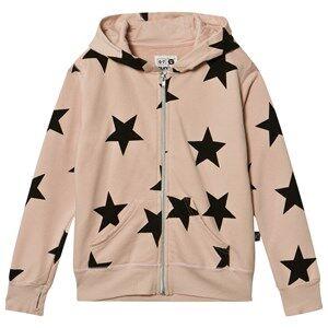 NUNUNU Unisex Jumpers and knitwear Pink Star Zip Hoodie Powder Pink