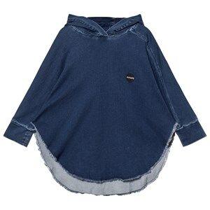 NUNUNU Unisex Coats and jackets Blue Denim Poncho Medium