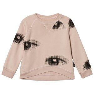 NUNUNU Unisex Jumpers and knitwear Pink Eye Sweatshirt Powder Pink