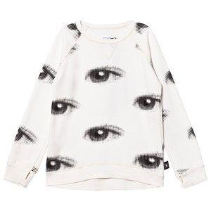 NUNUNU Unisex Jumpers and knitwear White Eye Sweatshirt White