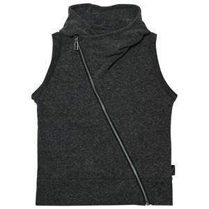 NUNUNU Unisex Tops Grey Asymmetrical Vest Charcoal