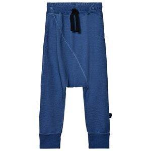 NUNUNU Unisex Bottoms Blue Diagonal Baggy Pants Dirty Blue
