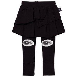 NUNUNU Girls Bottoms Black Eye Leggings Skirt Black