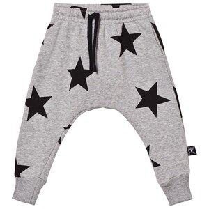 NUNUNU Unisex Bottoms Grey Star Baggy Pants Heather Grey