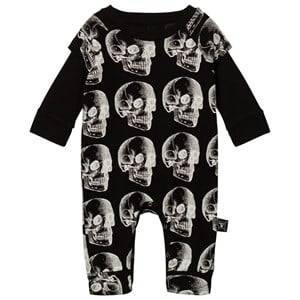 NUNUNU Unisex All in ones Black X-Ray Skull Playsuit Black