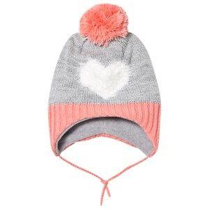 Barts Girls Headwear Grey Heart Milkyway Inka Beanie Grey/Pink