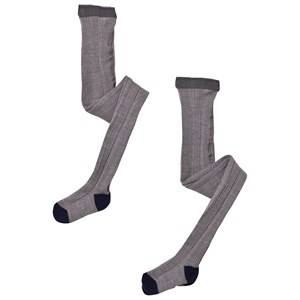 FUB Unisex Underwear Grey 2 Pack Tights Grey