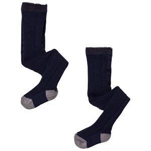 FUB Unisex Underwear Blue 2 Pack Tights Navy