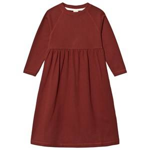 Image of Gray Label Girls Dresses Red Long Sleeve Long Dress Burgundy
