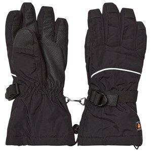 Image of Isbjörn Of Sweden Unisex Childrens Clothes Gloves and mittens Black Ski Gloves Black