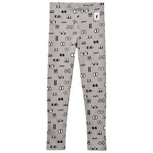 Civiliants Unisex Commission Bottoms Grey Allover Print Leggings Grey