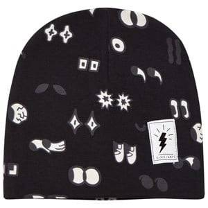 Civiliants Unisex Headwear Black Allover Print Jersey Beanie Black