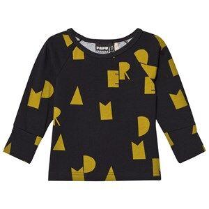 Papu Unisex Tops Black Fold Shirt Nap Dream