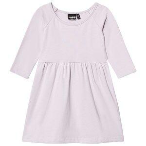 Papu Girls Dresses White Gather Dress Lilac Wake Up