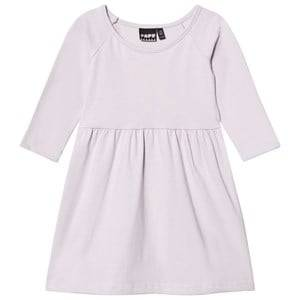 Papu Girls Dresses White Gather Dress Lilac Wake Up