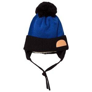 Papu Unisex Headwear Blue Pom Pom Wool Beanie Blue