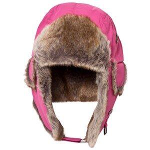 Barts Girls Headwear Pink Fuchsia Faux Fur Kamikaze Trapper Hat