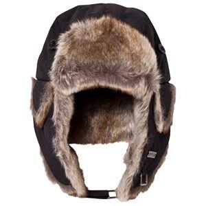 Barts Unisex Headwear Black Black Faux Fur Kamikaze Trapper Hat