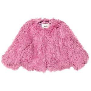 Hatley Girls Coats and jackets Pink Pink Faux Fur Coat