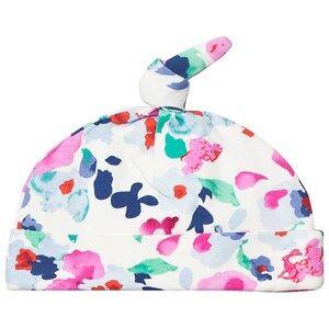Tom Joule Girls Headwear White Multi Colour Floral Print Hat